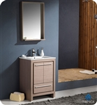"Fresca Allier 24"" Modern Bathroom Vanity - Grey Oak"