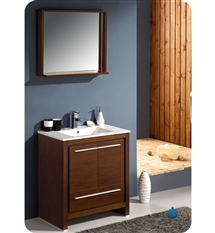 "Fresca Allier 30"" Modern Bathroom Vanity - Wenge"