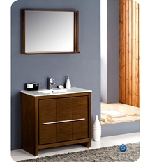 "Fresca Allier 36"" Modern Bathroom Vanity - Wenge"