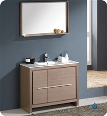 "Fresca Allier 40"" Modern Bathroom Vanity - Wenge"