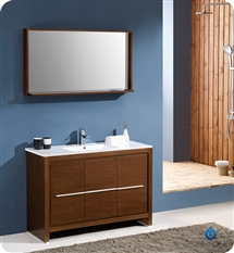 "Fresca Allier 48"" Modern Bathroom Vanity - Wenge"