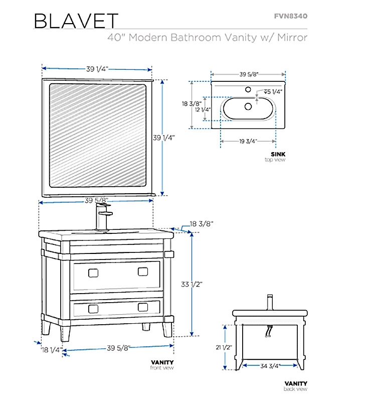 gallery for standard bathroom sink dimensions