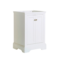 "Fresca Windsor 24"" Matte White Traditional Bathroom Cabinet"