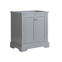 "Fresca Windsor 30"" Gray Textured Traditional Bathroom Cabinet"