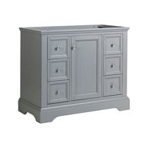 "Fresca Windsor 40"" Gray Textured Traditional Bathroom Cabinet"