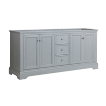 "Fresca Windsor 72"" Gray Textured Traditional Double Sink Bathroom Cabinet"
