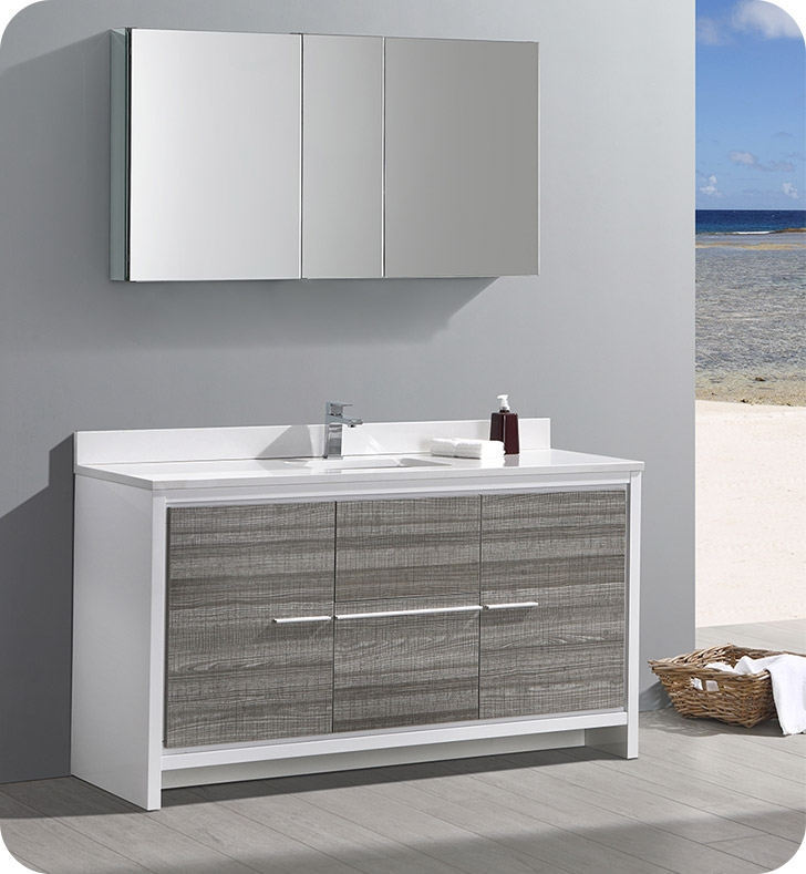 This Contemporary Double Sink Bathroom Cabinet