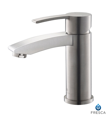 Fresca Livenza Single Hole Mount Bathroom Vanity Faucet - Brushed Nickel