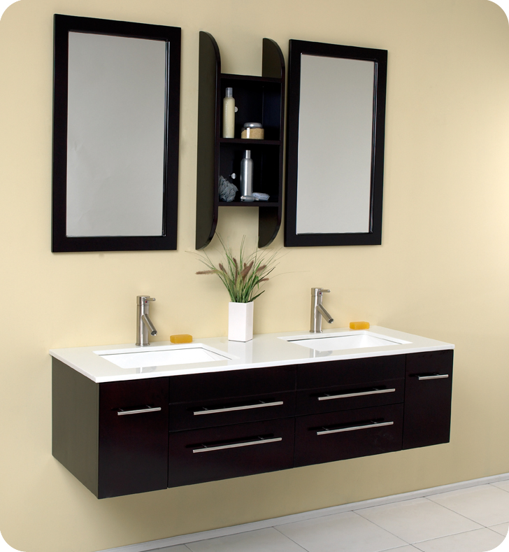 Fresca Bellezzo Espresso Bathroom Vanity W Cultured Marble Countertop Fvn6119uns